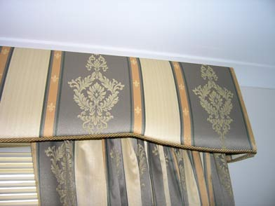 Perth mobile padded melmets showroom displaying curtains padded